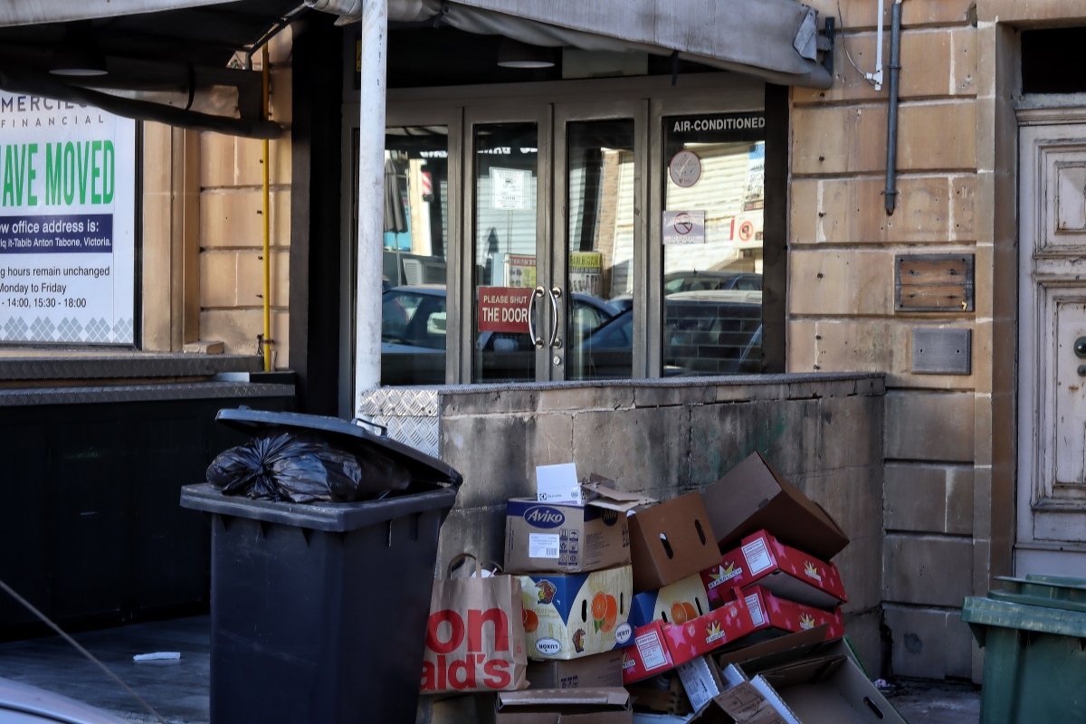 Serious garbage issues in Victoria,Gozo